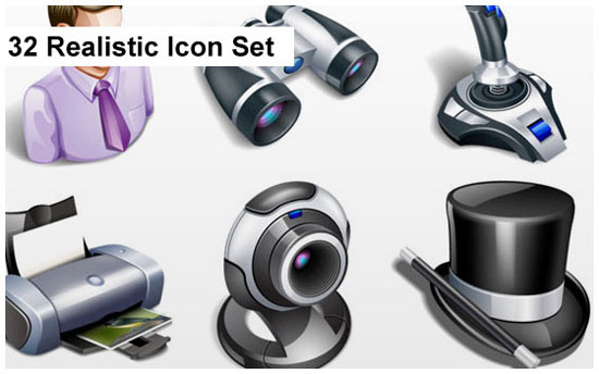 realistic 3d icon sets