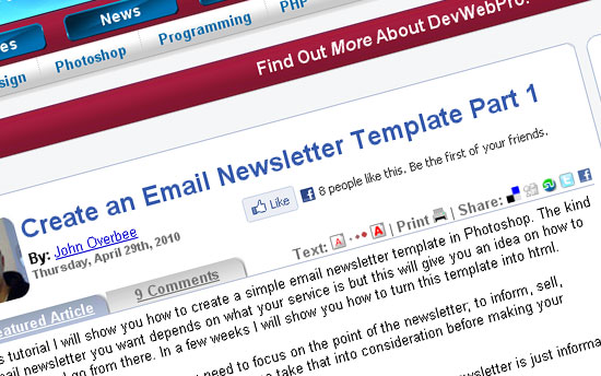 Create an Email Newsletter Template