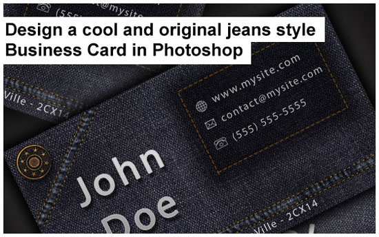 jeans style business card