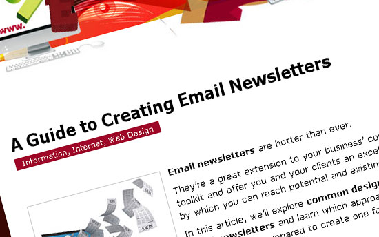 a guide to creating email newsletter