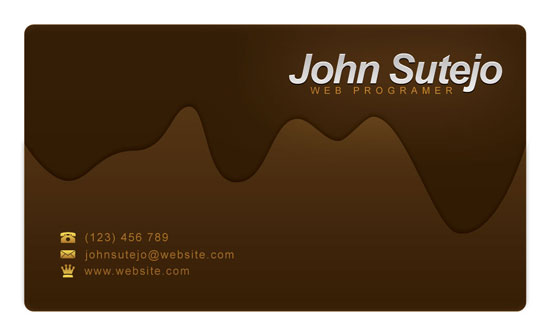 Create a molten chocolate business card in photoshop business card preview colourmoves