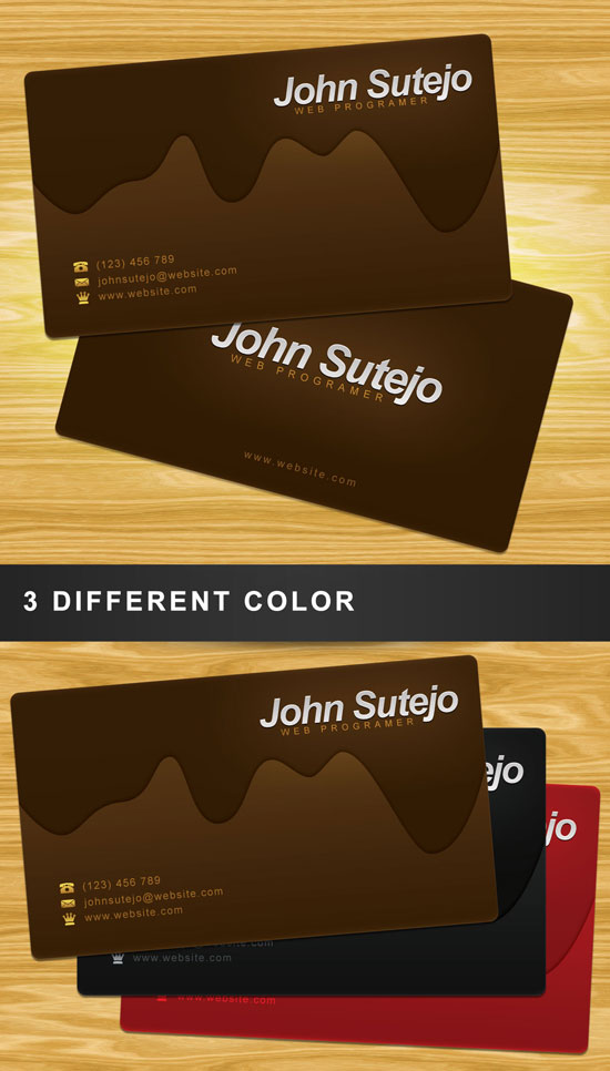 preview chocolate business card