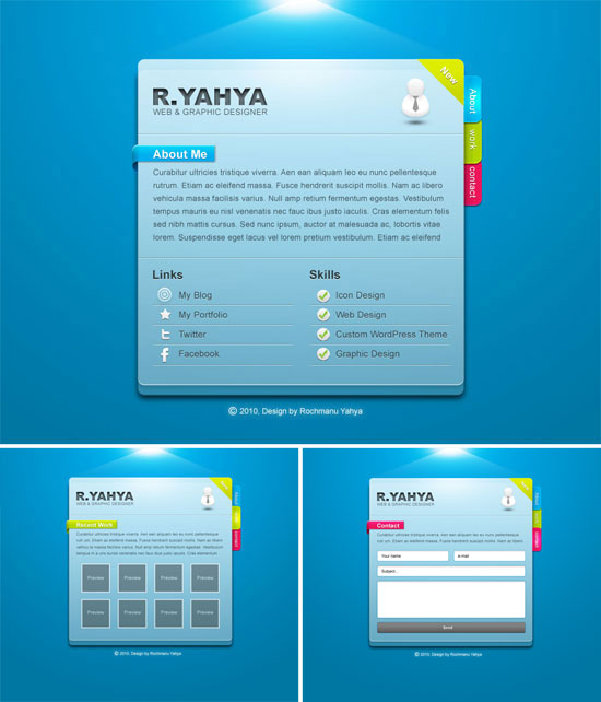 free vcard template