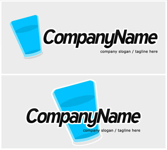 simple glass logo template
