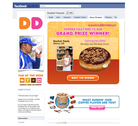 Facebook business pages-foods