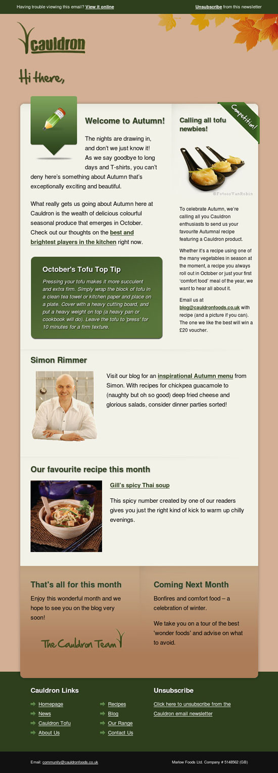 45 beautiful food and drink email newsletters beautiful email newsletters forumfinder Gallery