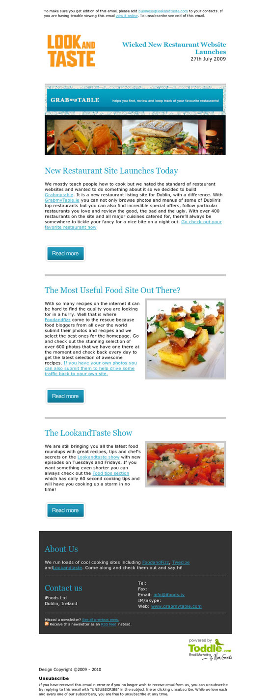 beautiful email newsletters