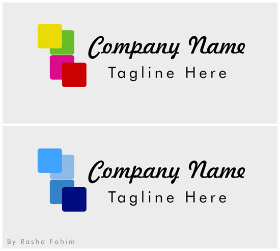 free creative box logo template