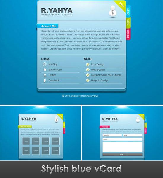 high quality free psd vcard template