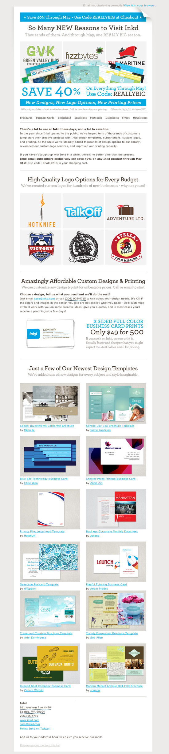 Inspiring Creative Studio Email Newsletters
