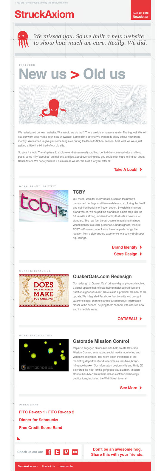 30 Inspiring Creative Studio Email Newsletters