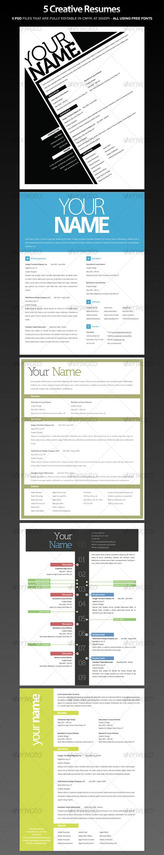 Get your Dream Job - 15 Clean & Elegant Resume Templates