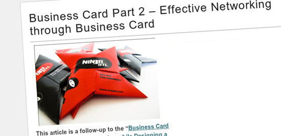 15 Useful Resources in Designing a Perfect Business Card