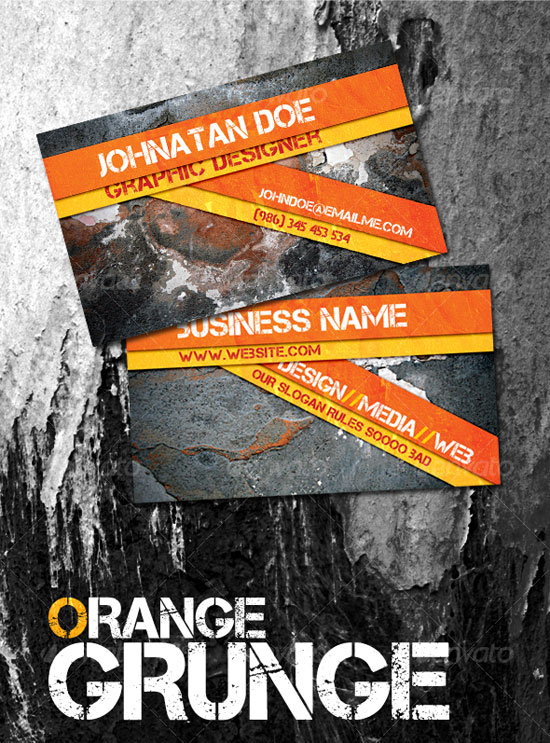 Top 12 Grungy Business Card Design Tutorials