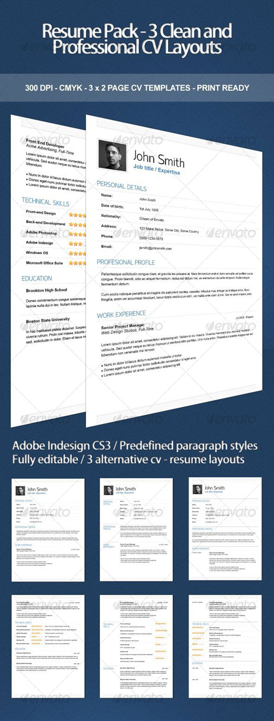 Get Your Dream Job   Clean  Elegant Resume Templates