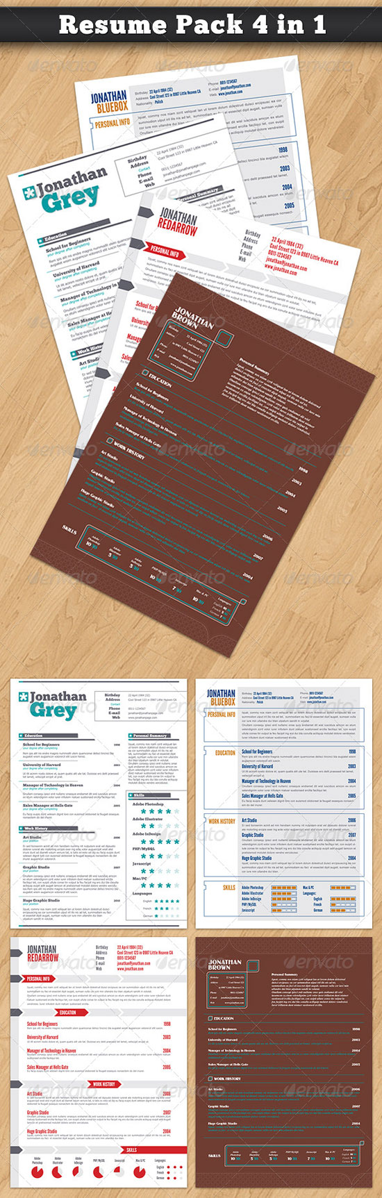 Printable Resume Forms For Free