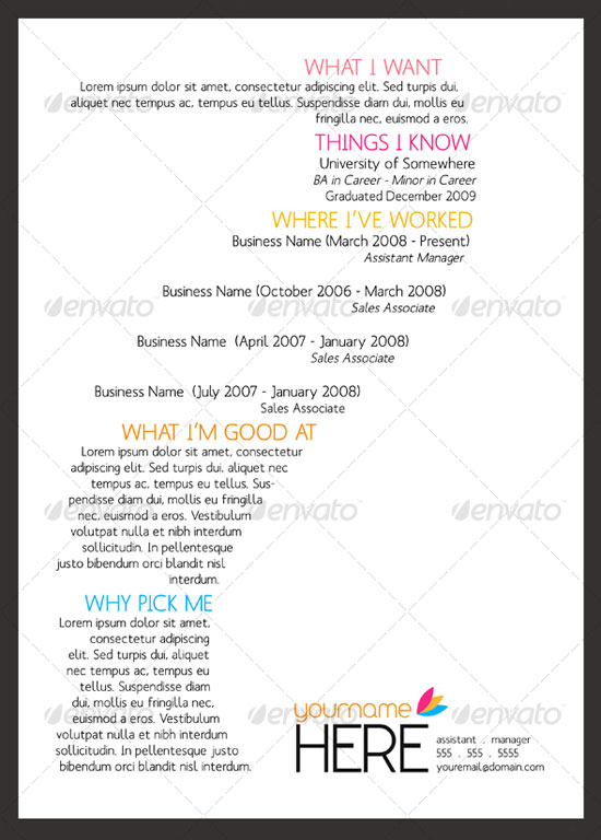 Resume Layout And Design Resume Layout Samples Good Resume Layout