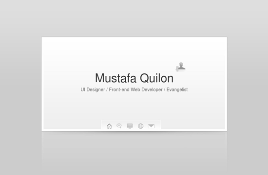 30 Elegant Grey Light vCard Designs
