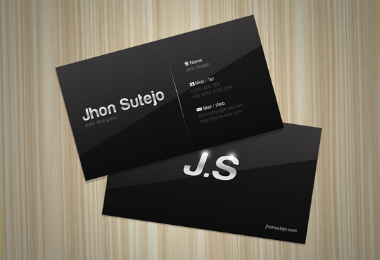 Free Business Card Template Elegant Dark - Personal business cards template
