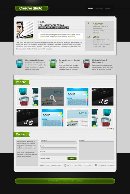 PaperOne Portfolio PSD Template