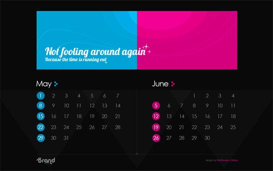 free wallpaper calendar of May-June 2011