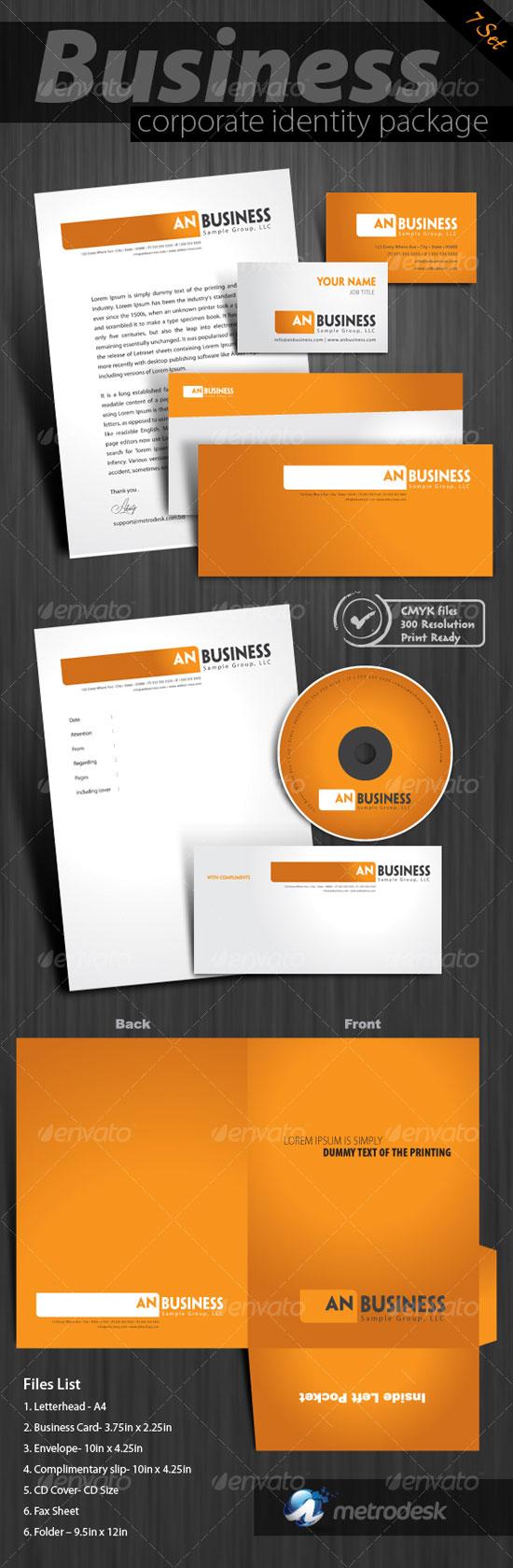 creative corporate identity design templates