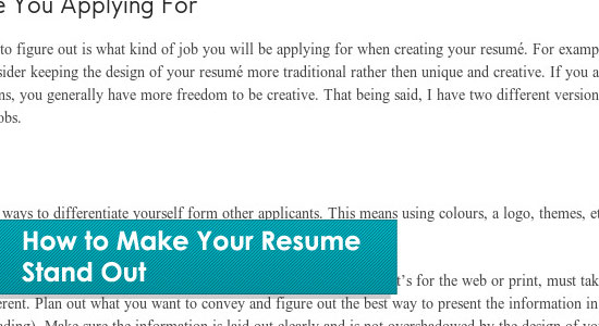 How To Make Your Resume Standout · Resume Writing Tips  Tips For Making A Resume