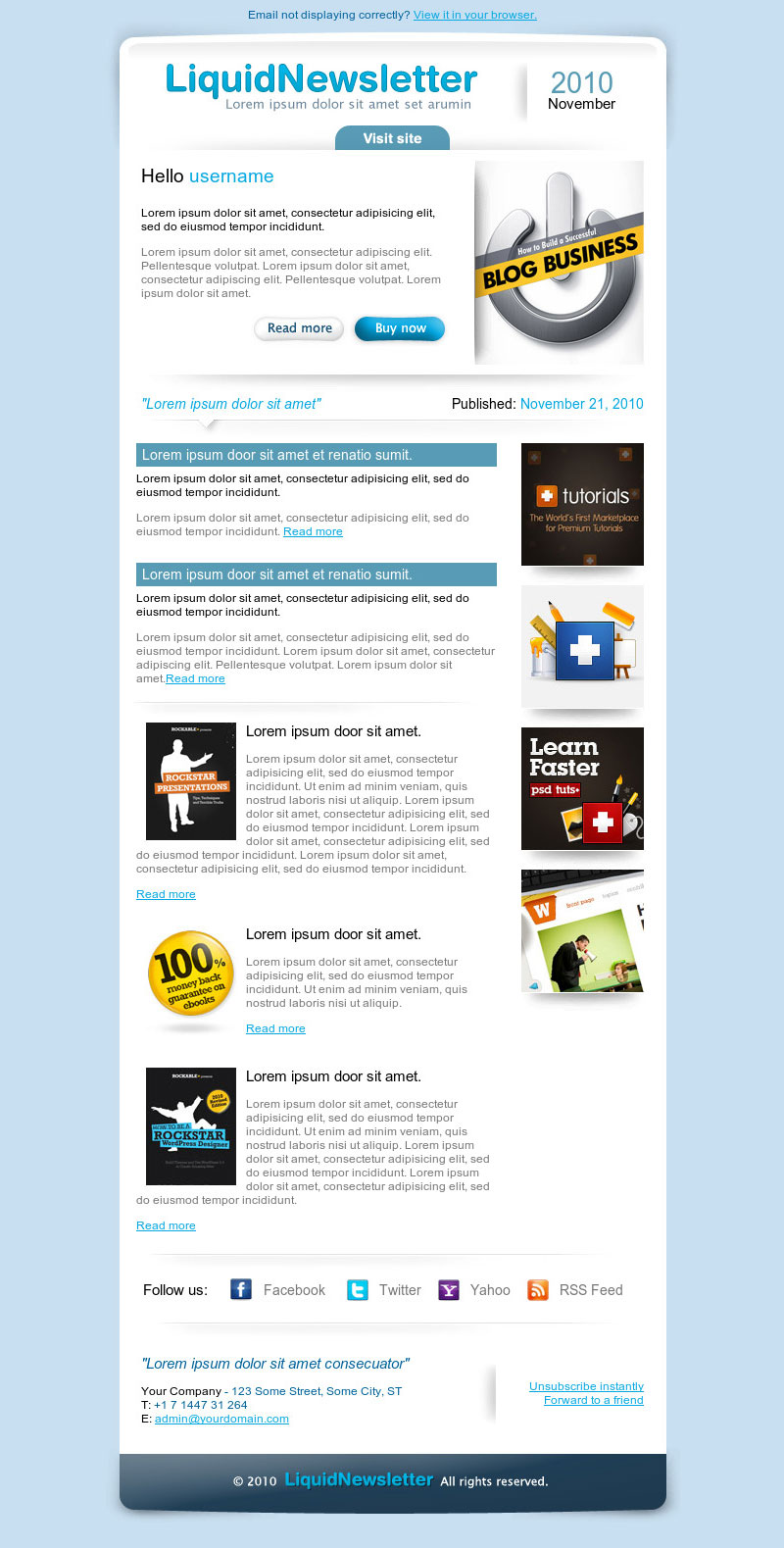 10 best email newsletter templates for your business flashek Image collections