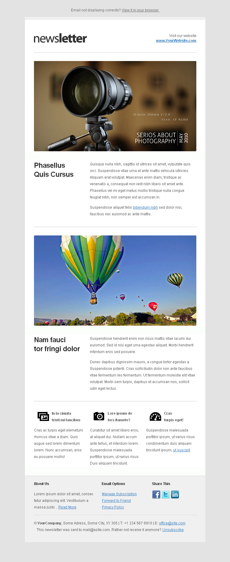 10 best email newsletter templates for your business for Corporate newsletter design inspiration