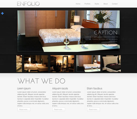 Creative Single Page Portfolio Templates