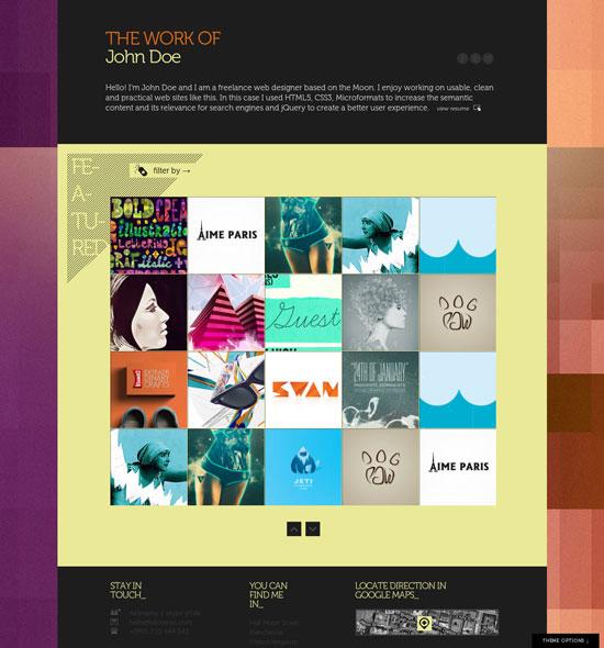 Creative Single Page Portfolio Templates
