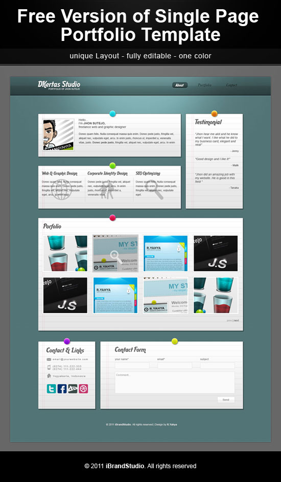 9+ Free Perfect One Page PSD Templates | Allxnet