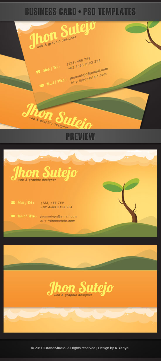 free beautiful nature business card template