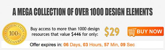 Mega Design Bundle over 1000 Design Elements