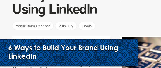 how to build your company brand on linkedin