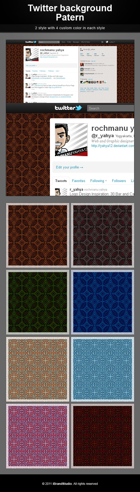 Free Twitter Background Beautiful Batik
