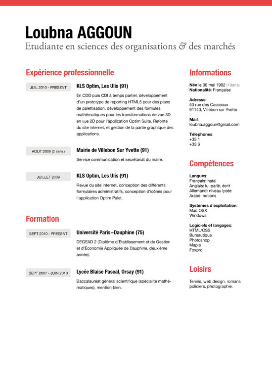 Examples Of Light And Clean Resume Designs