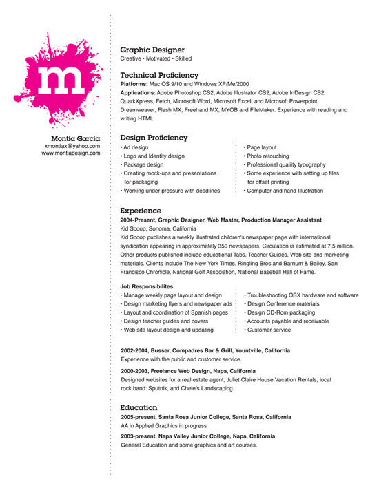 my resume by montia - Graphic Design Resumes