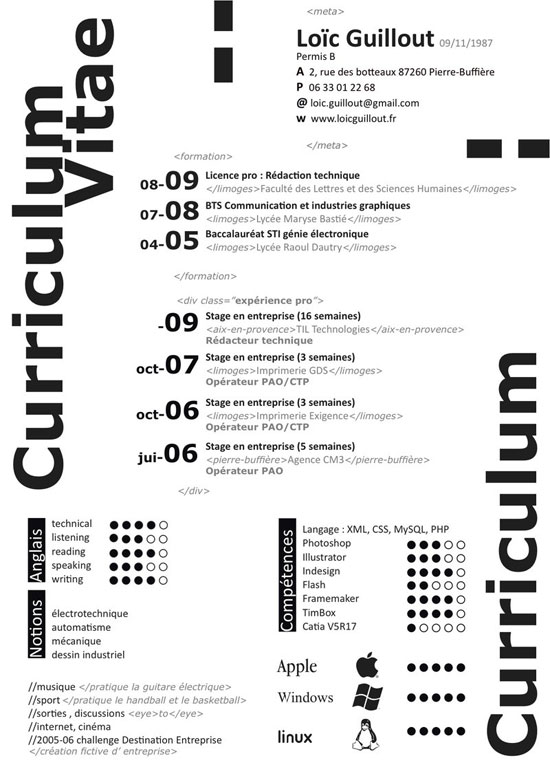 My Curriculum Vitae By Flaterie  Architecture Student Resume