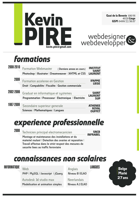 resume by kevinpire - Creative Resume Builder