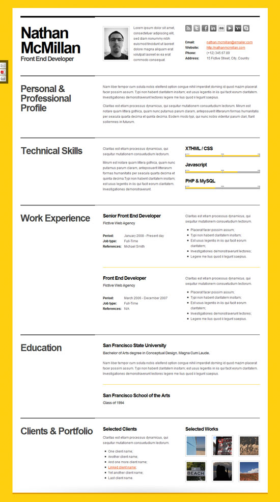 Pretty Resume Templates – Top Resume Formats