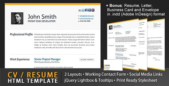 Beautiful Resume Templates  Resume Html Template