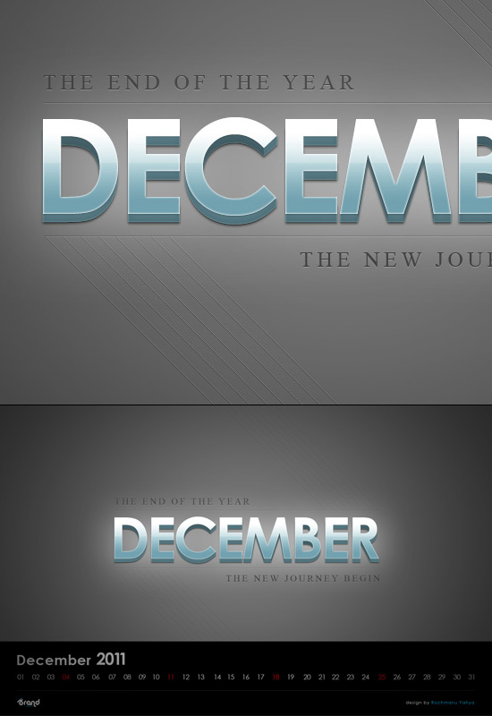 Free Desktop Wallpaper Calendar of December 2011