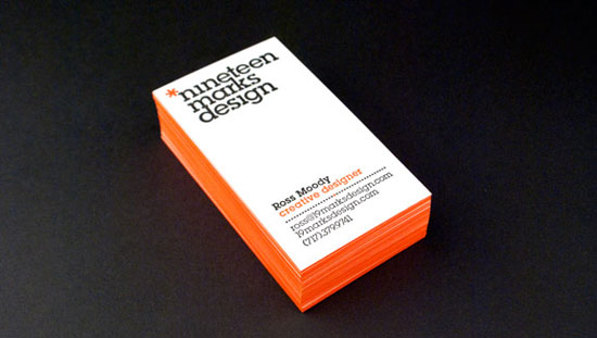 19 Marks Design Vertical Business Cards