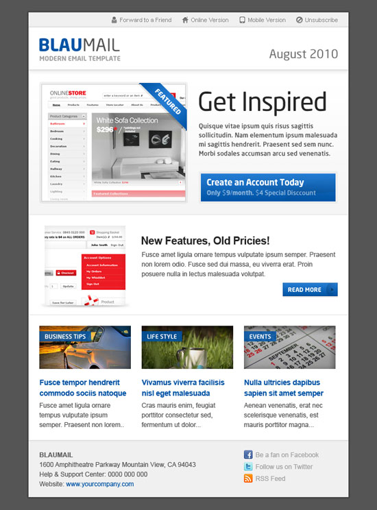 Best email newsletter templates for your brand marketing for How to create an email newsletter template