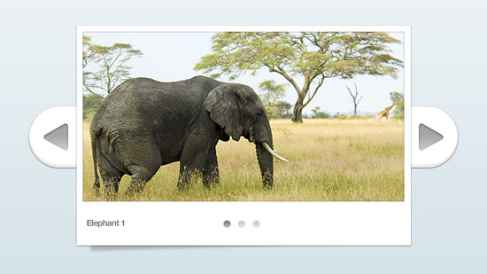 Beautiful Image Slider in PSD
