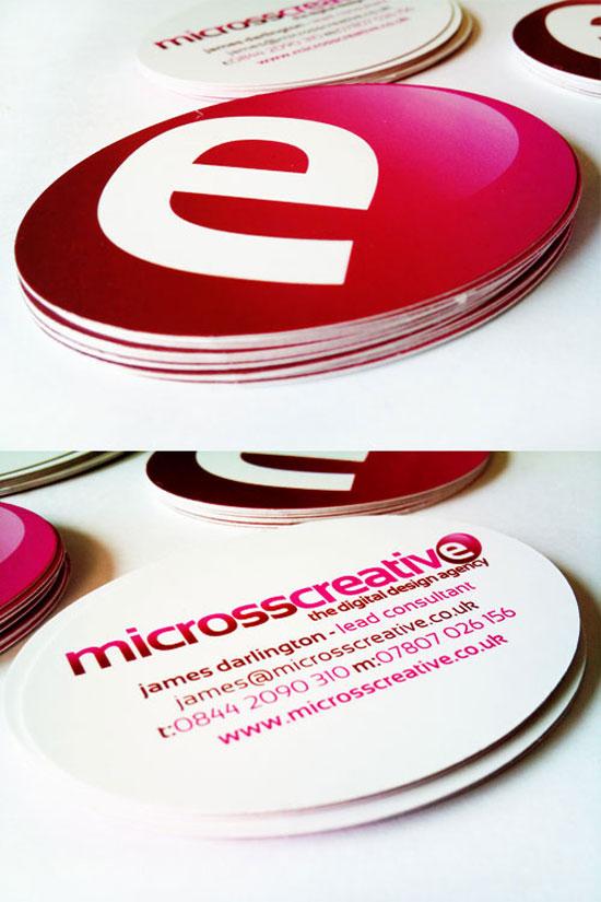 30 Creative Circle Business Card Designs
