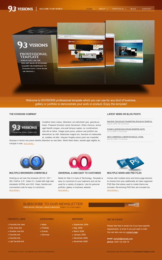 Html Slider Website Templates