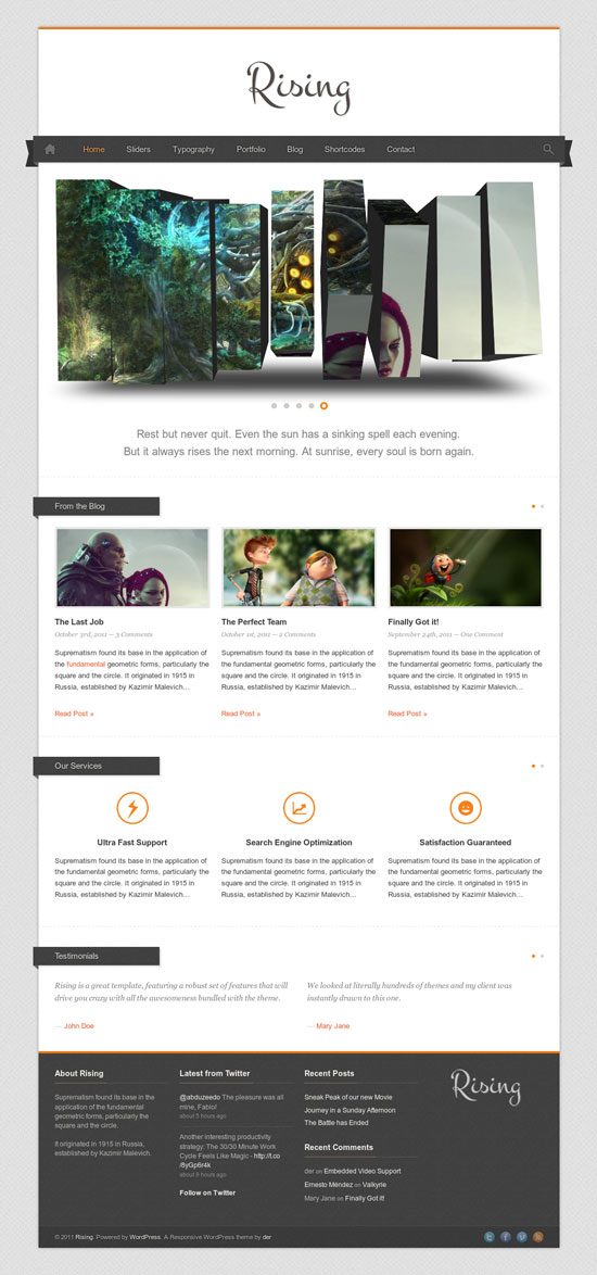 14 Amazing Portfolio Website Templates with 3D Slider