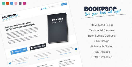 Book Landing Page Template Landing Page Templates
